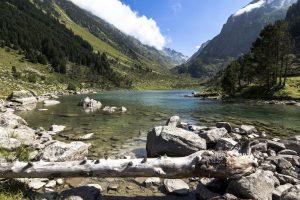 Paysage rivière montagne